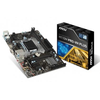 MSI H110M PRO-VH PLUS LGA 1151 Intel H110 VGA HDMI SATA 6Gb/s USB 3.1 Micro ATX Motherboard