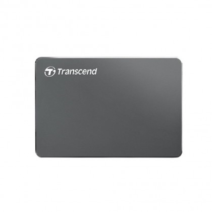 Transcend 2TB StoreJet 25C3N Extra-Slim USB3 Portable Hard Drive - Iron Grey