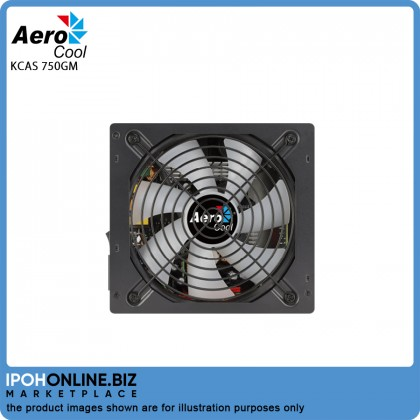 Aerocool KCAS-750GM 750W RGB Modular 80 PLUS Gold Gaming Power Supply