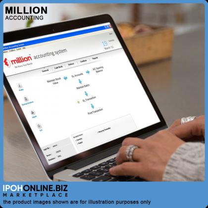 Million Accounting Single Version USB Dongle - FOC Pendrive + Installation