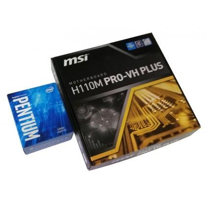 MSI H110M PRO-VH PLUS LGA 1151 Intel H110 VGA HDMI SATA 6Gb/s USB 3.1 Micro ATX Motherboard + Intel Pentium G4560 3.5 GHz Dual-Core LGA 1151 Desktop Processor PROMO Package