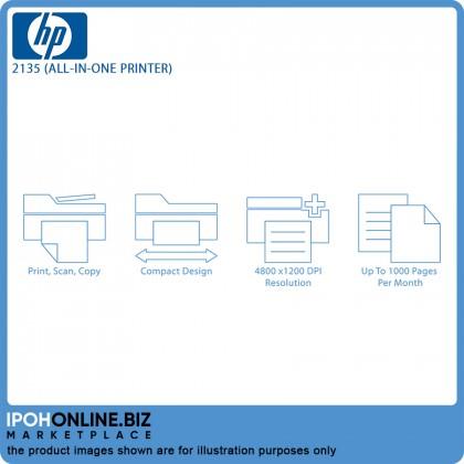 HP DeskJet Ink Advantage 2135 All-In-One Print Scan Copy Printer - FOC Additional Black Catridge