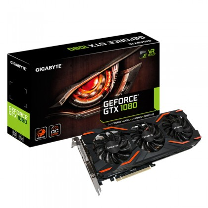 GIGABYTE NVIDIA GeForce GTX 1080 WINDFORCE OC 8GB GDDR5X 256 bit DVI HDMI 8K VR Gaming Mining GRAPHIC CARD GV-N1080WF3OC-8GD