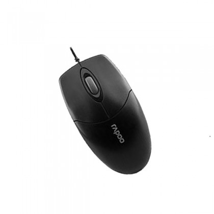 Rapoo N1020 1000 DPI USB Wired Optical Mouse - Black