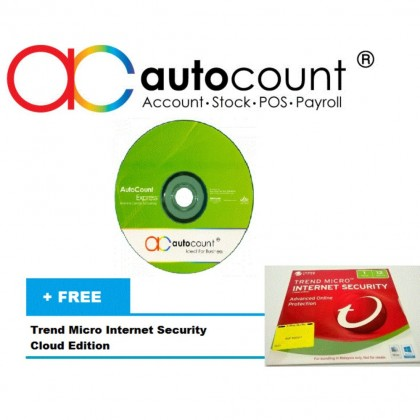 Autocount Account - Express Complete Edition (Single User)  - Free!!!Trend Micro Internet Security + 16GB Autocount Pendrive