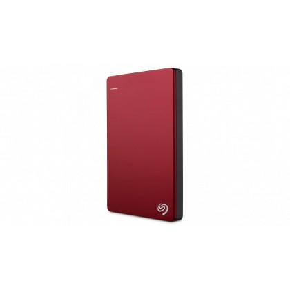 Seagate Backup Plus Slim 1TB Portable External Hard Drive with 200GB of Cloud Storage (Red)