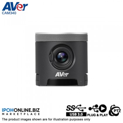 AVER CAM340 USB Sony Exmor 4K Conference Camera For Huddle Rooms And Video Calling Webcam