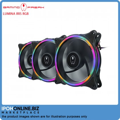 Gaming Freak LUMINA IRIS RGB 3 In 1 STARTER KIT FIXED LIGHTING 120mm LED PC Fan