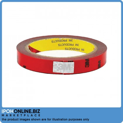3M Super Strong Double Sided Acrylic Foam Tape (3meter x 15mm)