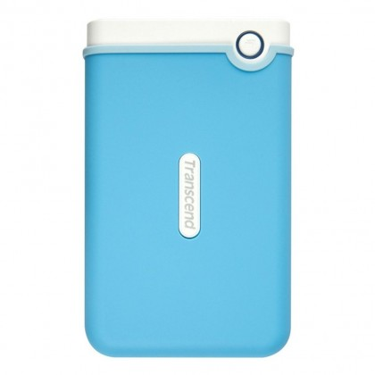 Transcend 1TB StoreJet M3 Military Drop Tested USB 3.0 1TB Portable Hard Drive - Baby Blue
