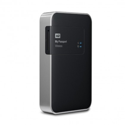 WD 1TB My Passport Wireless Portable External Hard Drive - WIFI USB 3.0 Network Drive + FREE WD POUCH