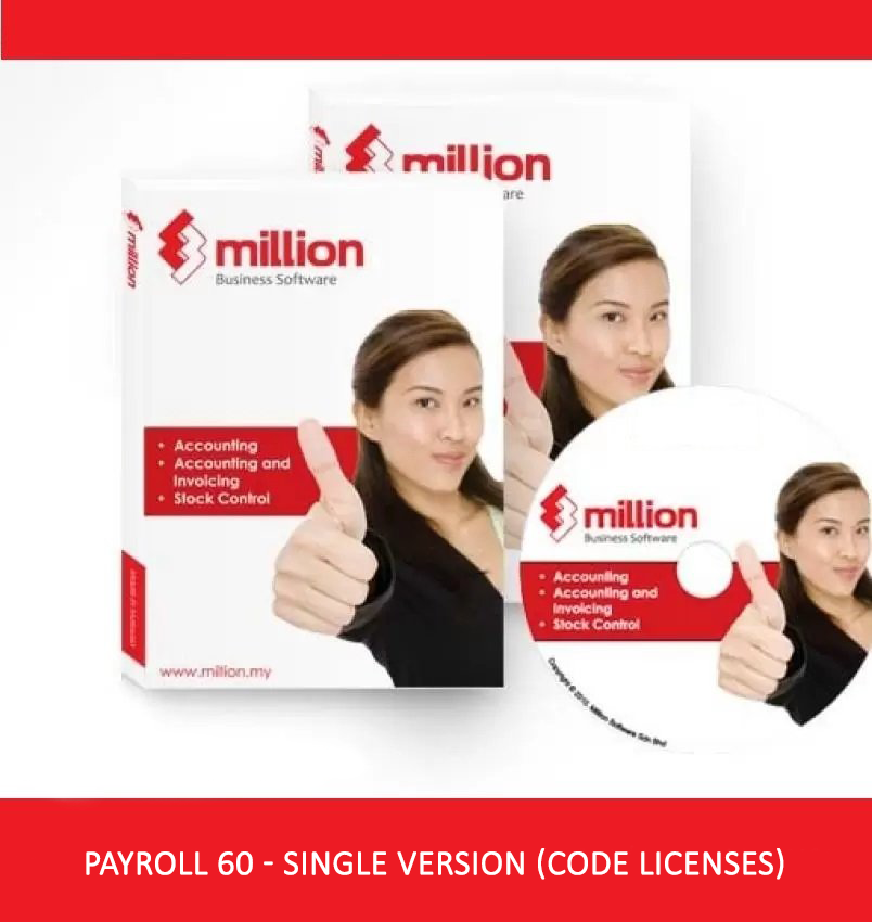 Million Software Payroll 60 Single Version Code Licenses + Free 16GB PenDrive